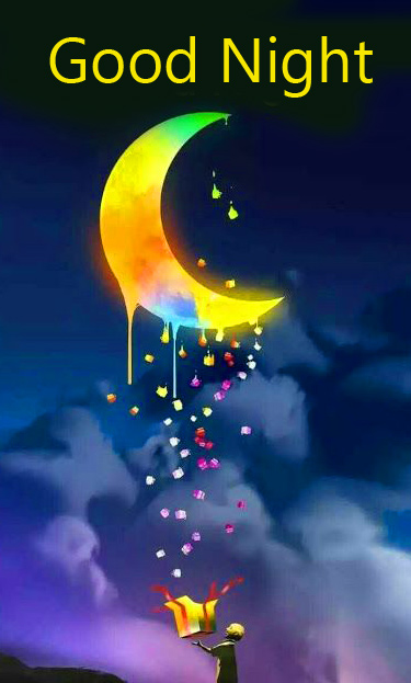 Good Night Wish with Gift Moon