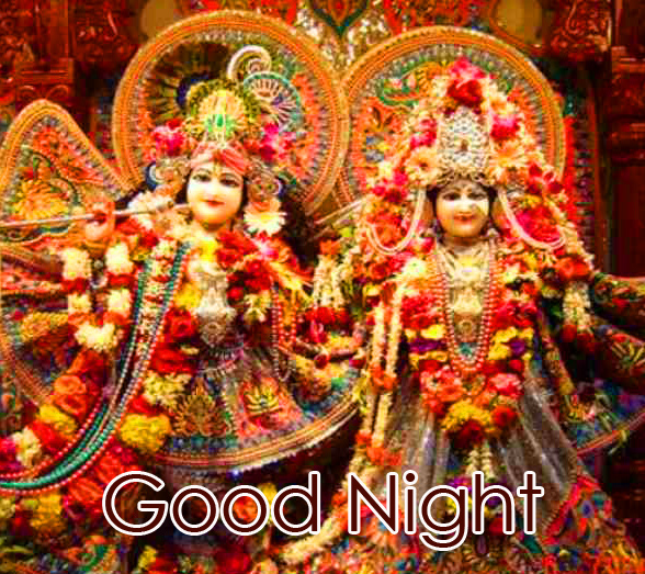 Good Night with Best Radha and Krishna Pic