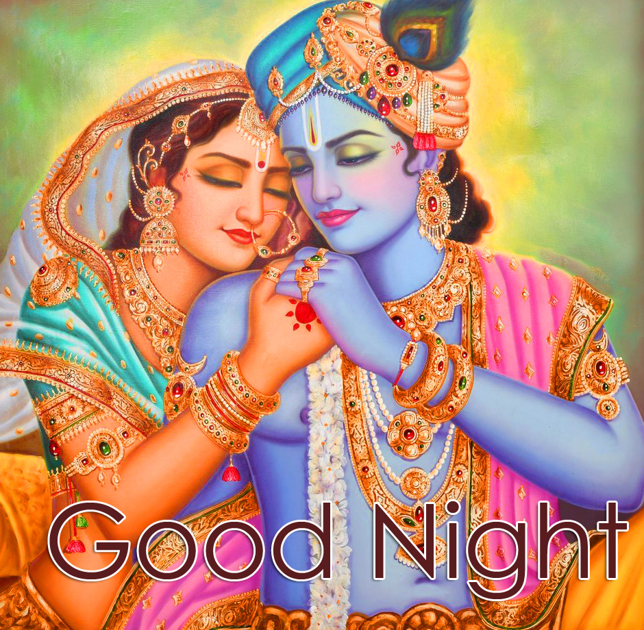 Good Night with Best Radha and Krishna Picture