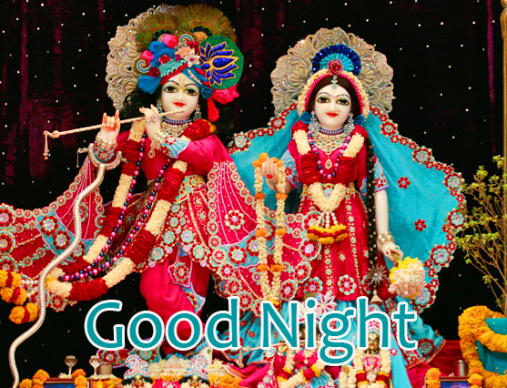 Good Night with Radha Krishna Picture