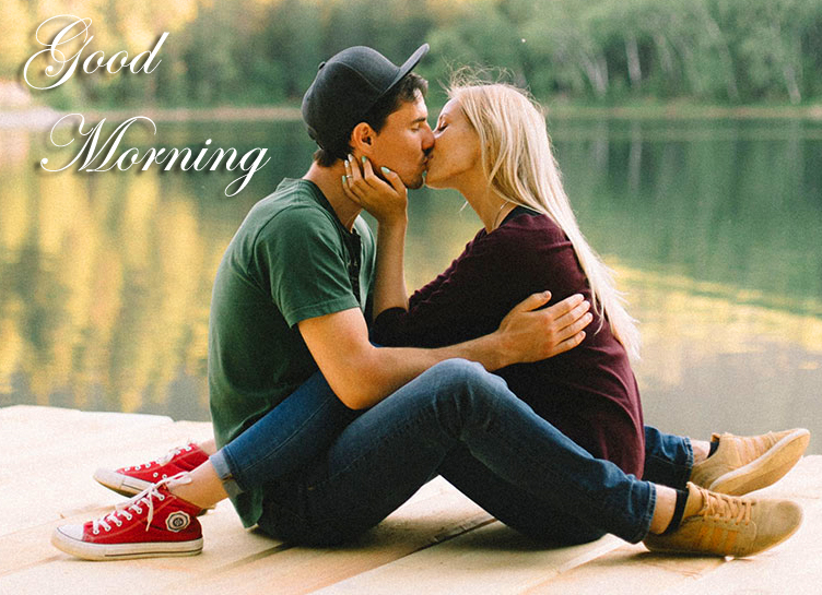 Good morning Kissing Couple Pic