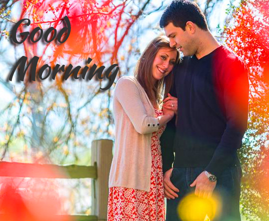 Good morning Message with Sweet Couple Image