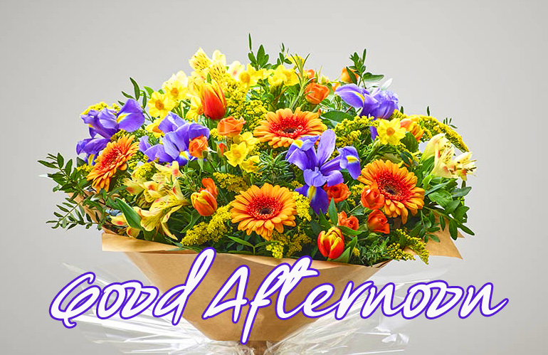 HD Flowers Bouquet Good Afternoon Image