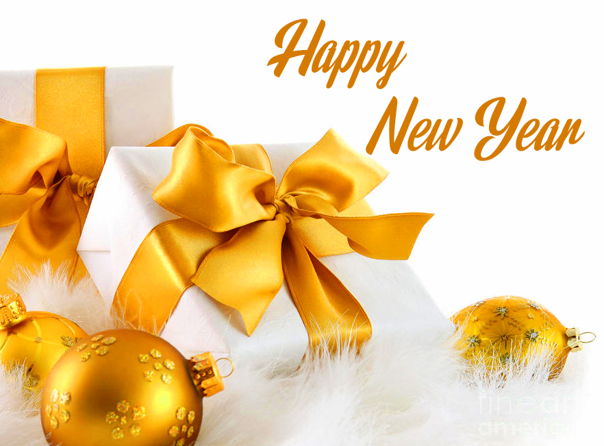 HD Golden Happy New Year Image