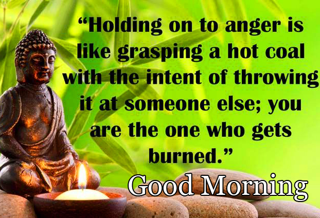 HD Good Morning Wish with Buddha Quotes