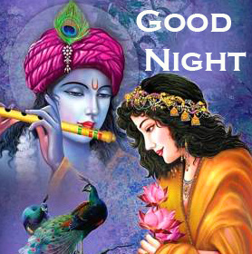 HD Love Radha Krishna Good Night Picture