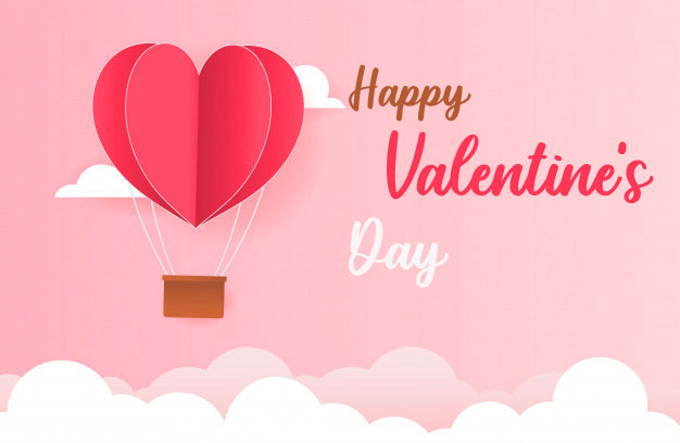 HD Paper Stlye Happy Valentines Day Image