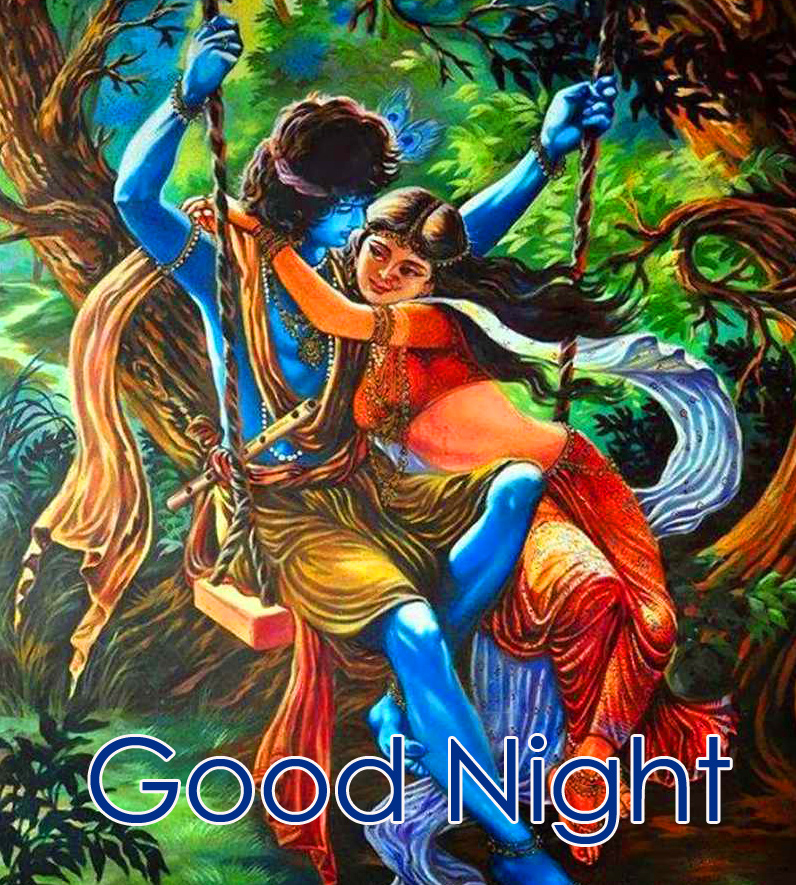 HD Radha and Krishna Good Night Image