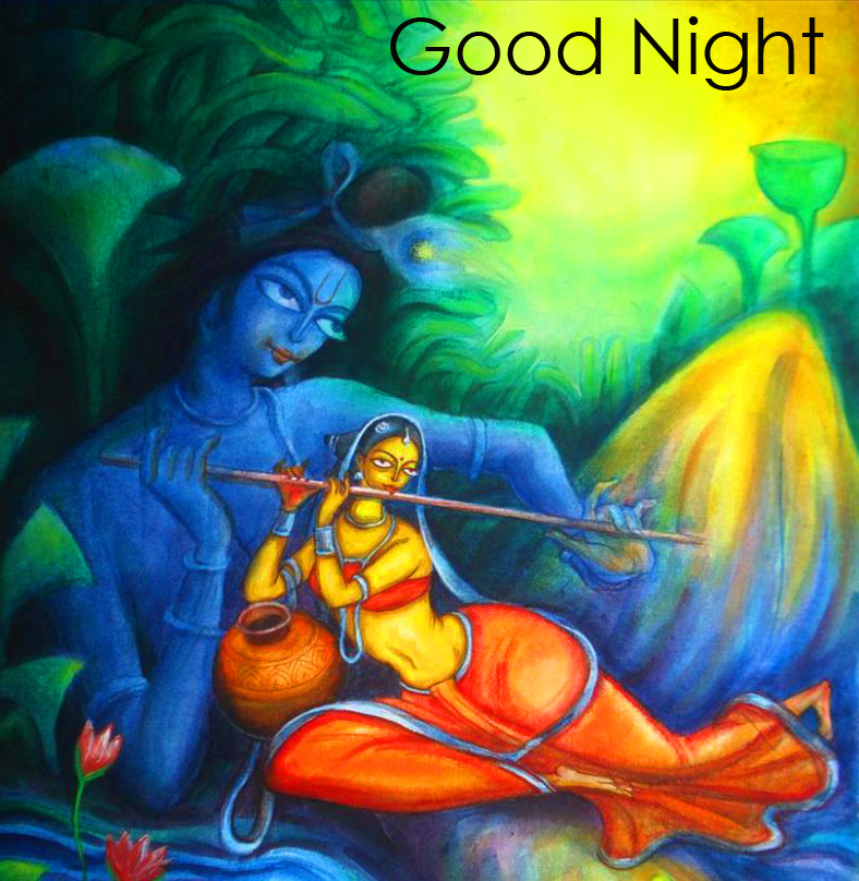 HD Radha and Krishna Good Night Pic