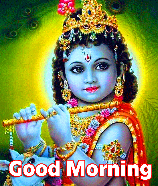 HD Shri Krishna Good Morning Photo
