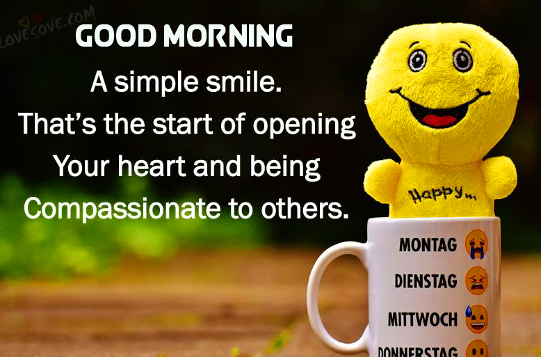 HD Smile Quotes Good Morning Image