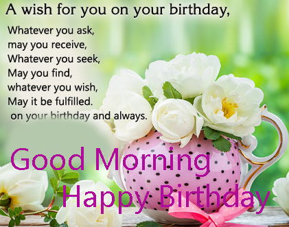 Happy Birthday Good Morning Wallpaper and Pic