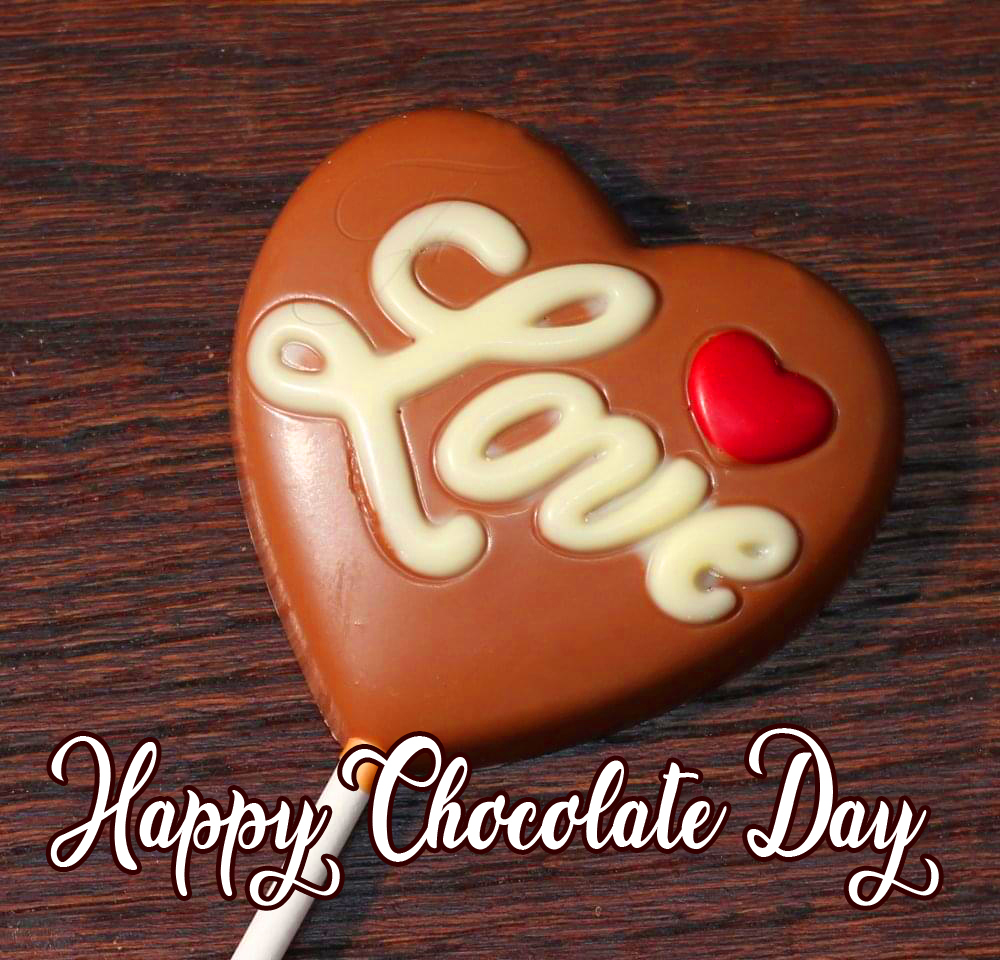 Happy Chocolate Day with Heart Heart