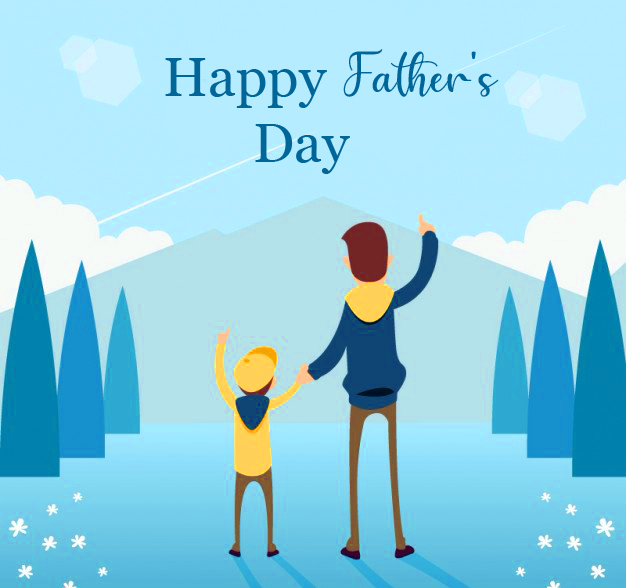 Happy Fathers Day with Animated Picture
