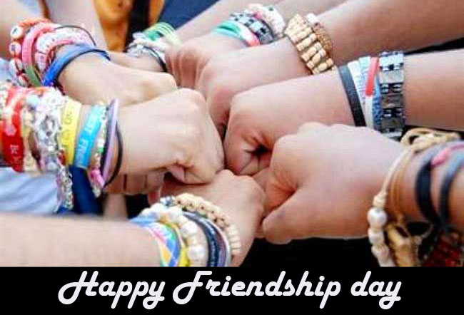 Happy Friendship Day with Friendship Bands Pic
