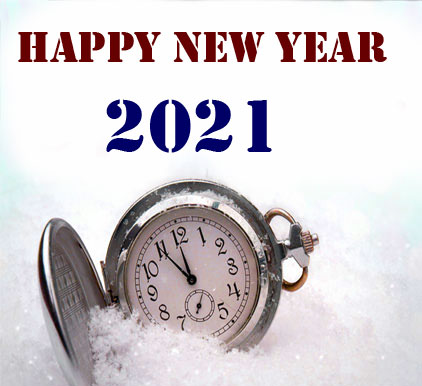 Happy New Year Clock Picture