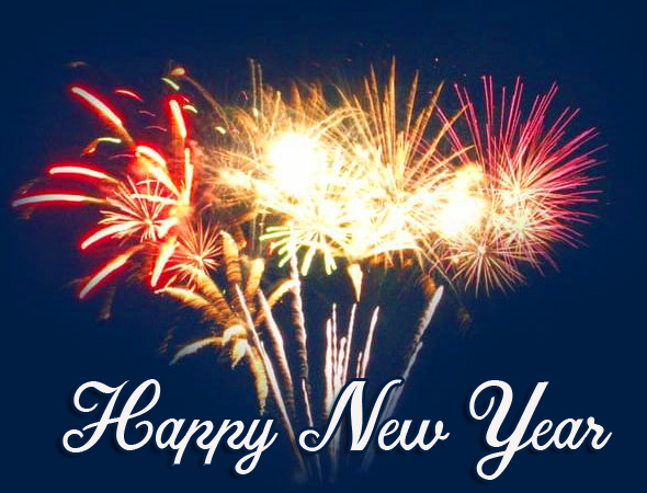 Happy New Year Fireworks HD Image