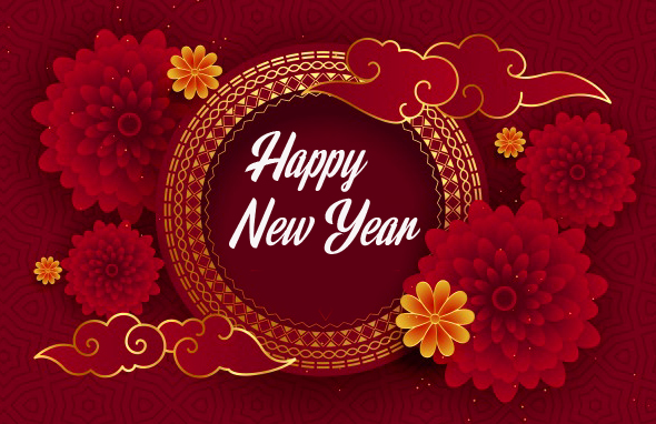 Happy New Year Greeting Wallpaper