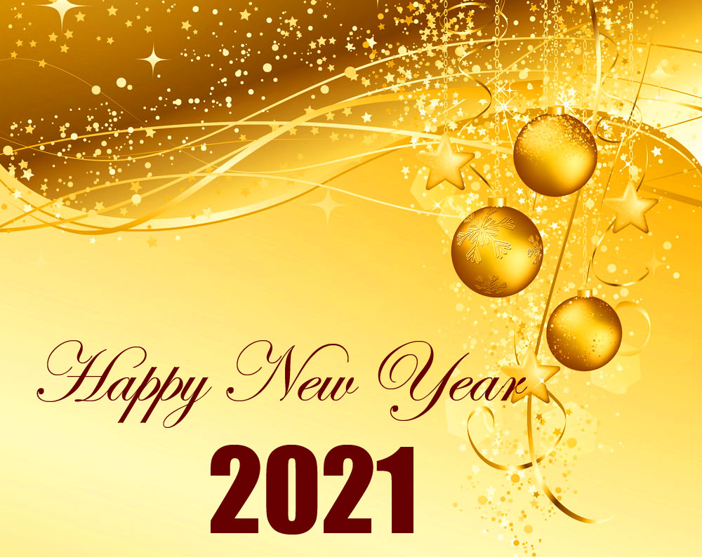 Happy New Year with Golden Picture