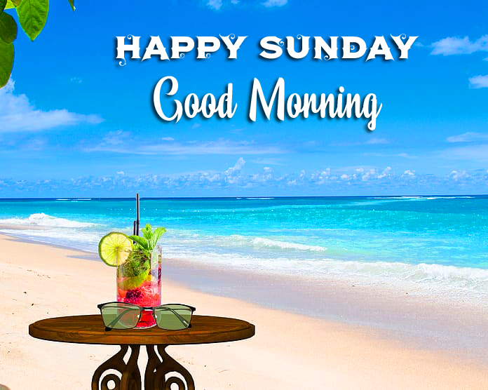 Happy Sunday Good Morning with Relaxing Beach