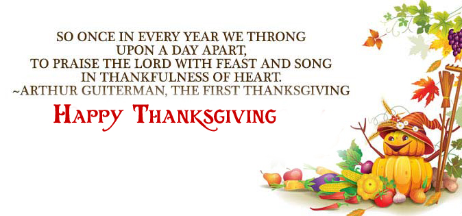 Happy Thanksgiving Message Pic