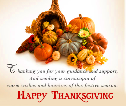 Happy Thanksgiving Quotes with Fruit images