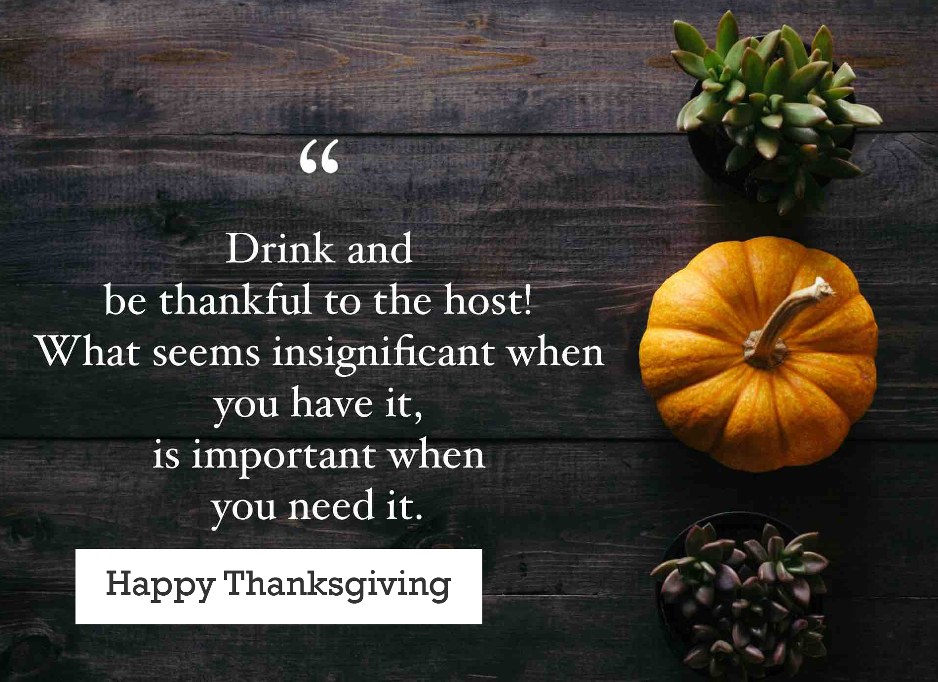 Happy Thanksgiving Wallpaper with Quotes