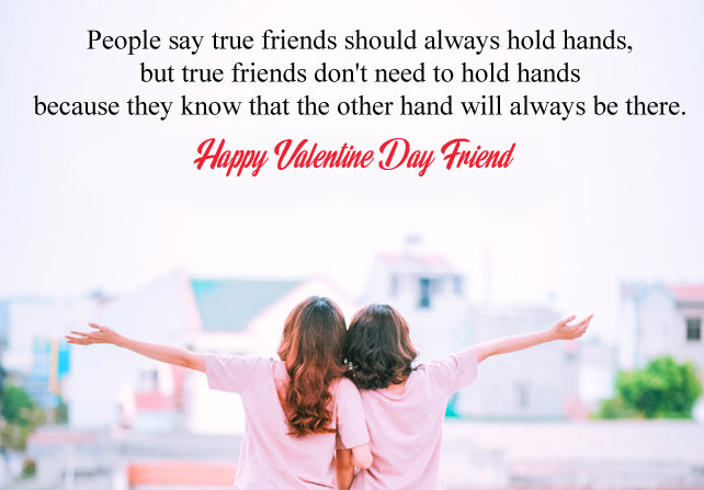 Happy Valentines Day Friend Beautiful Message Pic