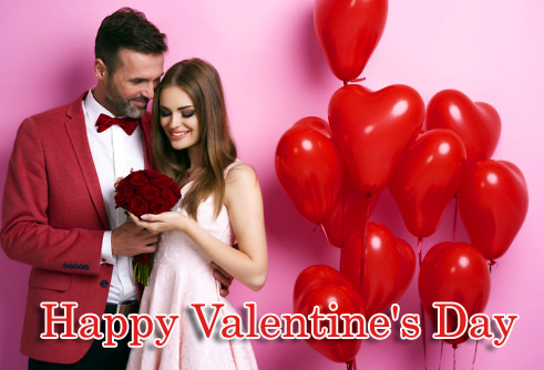 Happy Valentines Day Message with Romantic Couple Pic