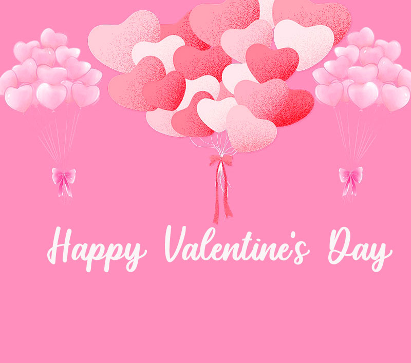 Happy Valentines Day Pink Image