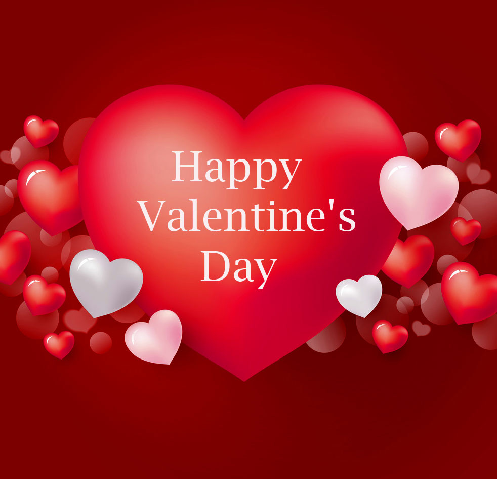 Happy Valentines Day Red Heart Pic