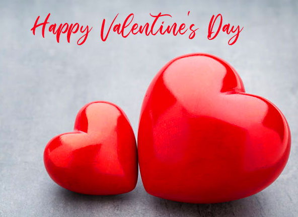 Happy Valentines Day Wishing with Hearts