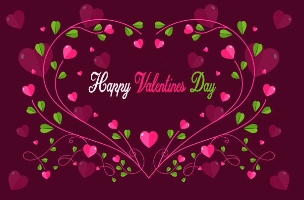 Happy Valentines Day with Heart Background