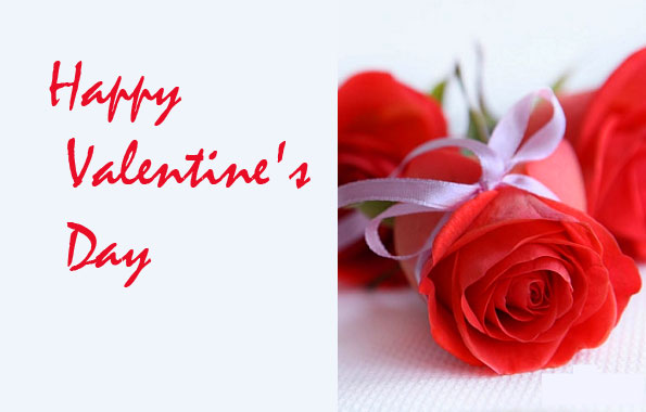 Happy Valentines Day with Rose Pic