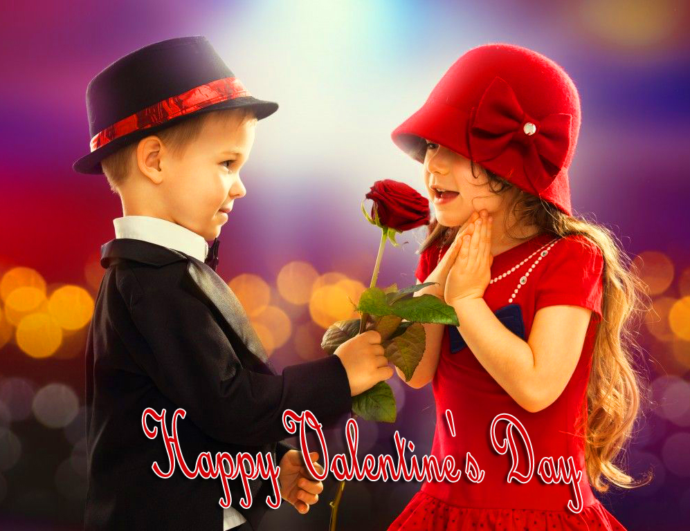 Happy Valentines Day with Sweet Couple