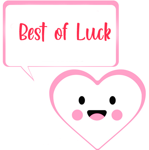 Heart Best of Luck Pic