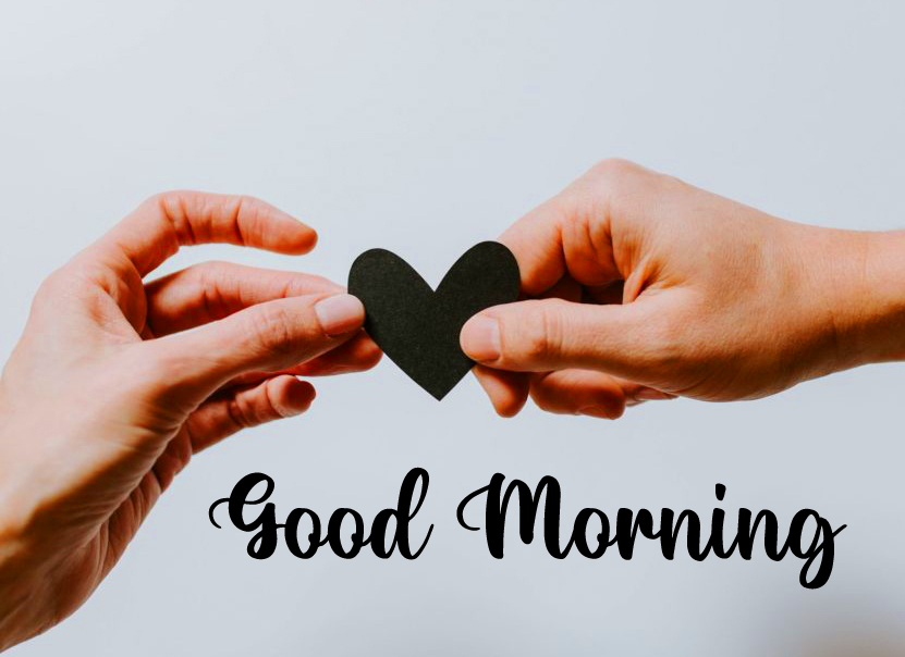 Heart with Couple and Good Morning