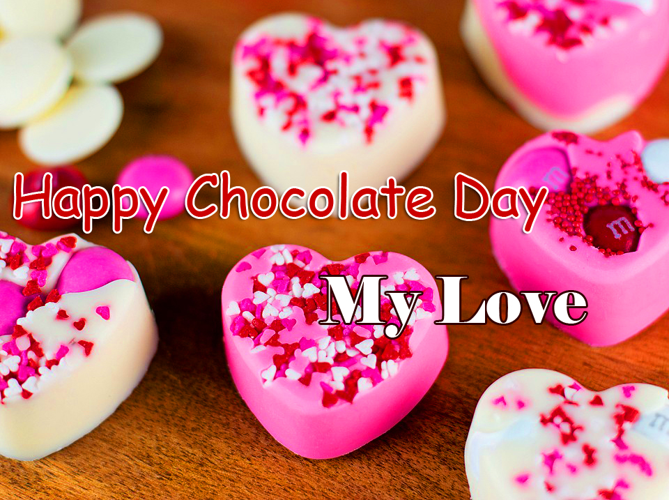 Hearts Cupcakes Happy Chocolate Day My Love Image