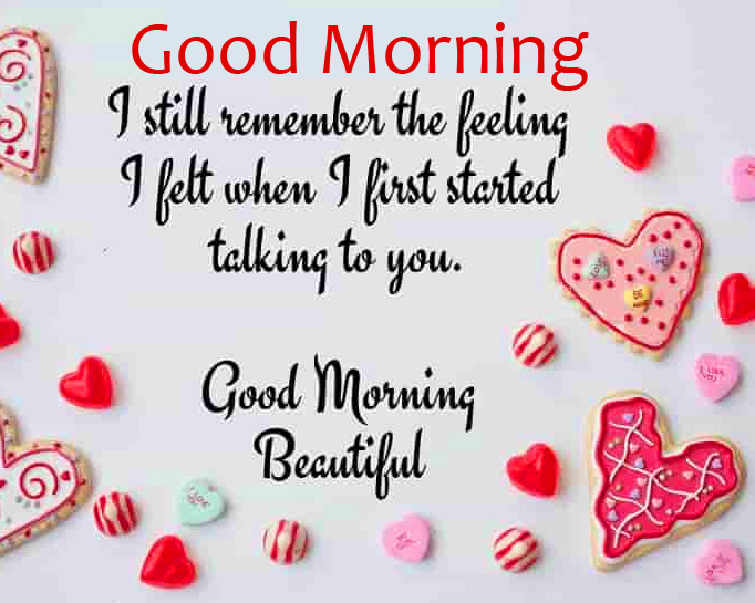 Hearts with Good Morning Message Wallpaper