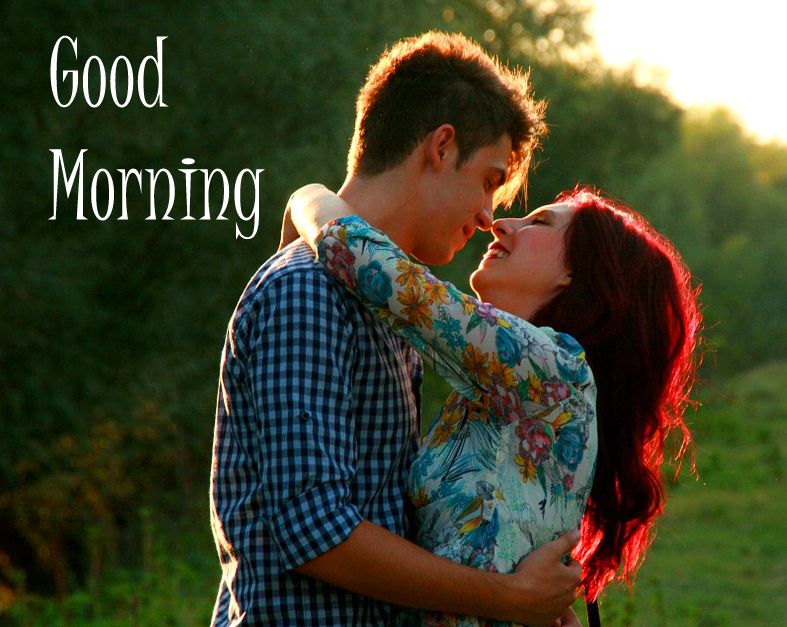 Hugging Couple Good Morning Image