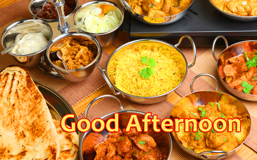 Indian Lunch HD Good Afternoon Image