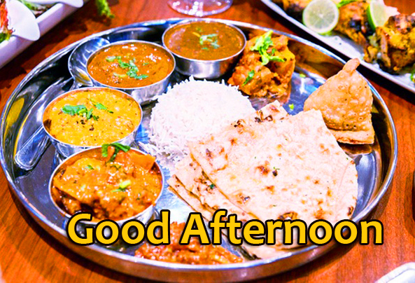 Indian Lunch Thali Good Afternoon Image