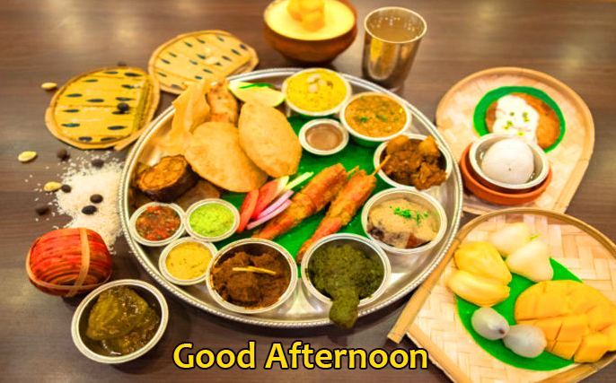 Indian Thali Good Afternoon Pic