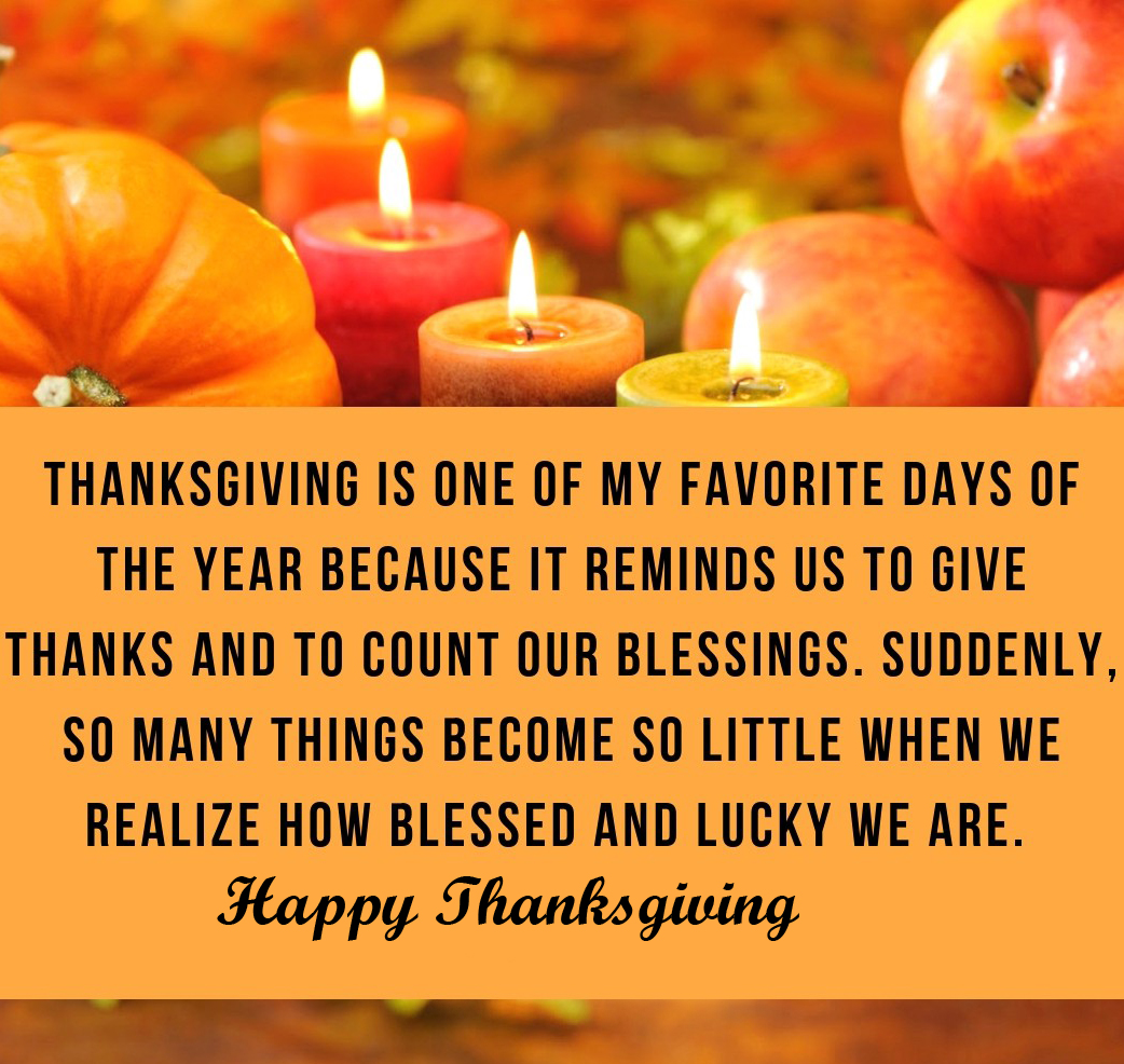 Inspirational Quotes with Happy Thanksgiving Message