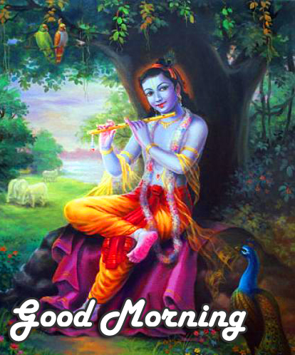 Latest Krishna Good Morning Pic and Wallpaper