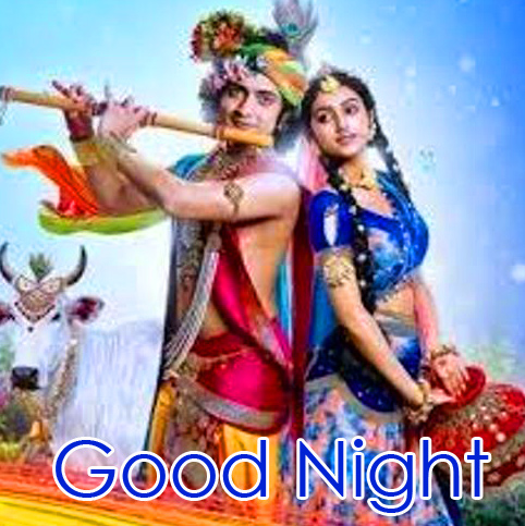 Latest Radha and Krishna Good Night HD Pic