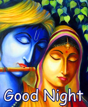Latest Radha and Krishna Good Night Image