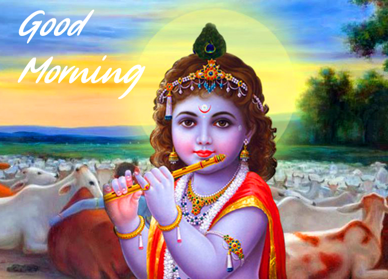 Lord Krishna Good Morning Image HD