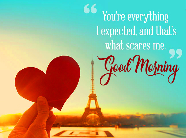 Love Quotes with Heart and Good Morning Wish