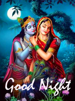 Love Radha and Krishna Good Night Image